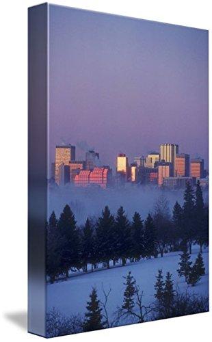 Amazon Com Wall Art Print Entitled Misty Skyline Edmonton