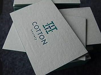 200 Stück 34pt Buchdruck Visitenkarten Handgefertigt Namen
