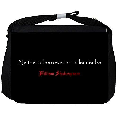 Né Un Mutuatario - William Shakespeare Unisex Umhängetasche