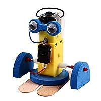 HUIFEIDEYU Mini Walking Robot Kits, Children DIY Assembly Ming Crawling Robot Kit Science Technology Toy Kids Interactive Gift