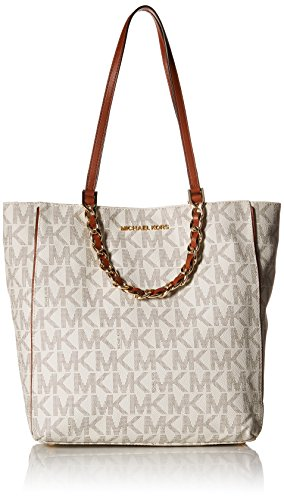 MICHAEL Michael Kors Harper Large North/South Tote Bag, Vanilla by MICHAEL Michael Kors