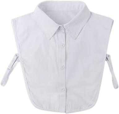 Zonfer La mitad de los collares falsos camisa falsa cuellos postizos blusa de Dickey collar accesorio de vestir para las mujeres: Amazon.es: Ropa y accesorios