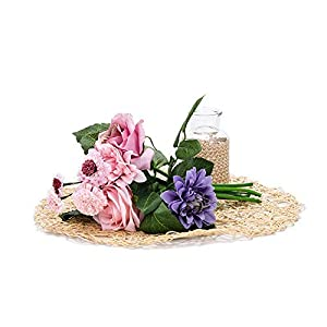 Artificial & Dried Flowers - 1 Bouquet 8 Heads Artificial Rose Peony Silk Flowers Leaf Home Wedding Garden Floral Decor - Dried Flowers Artificial Artificial Dried Flowers Fake Flower Decor Home 82