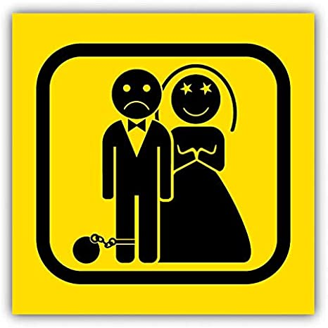 """Game Over Wedding Warning Sign Funny Humor Car Bumper Sticker Decal 5/"""" x 5/"""""""