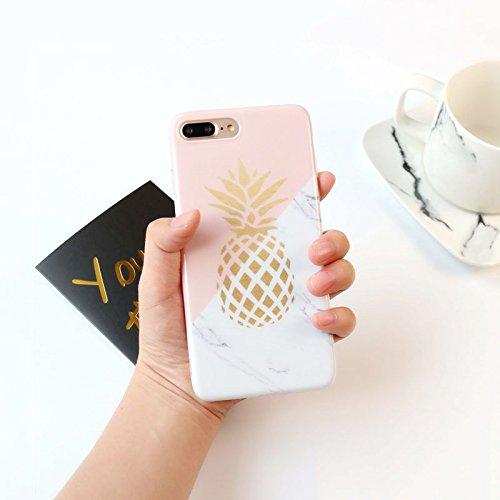 Pinzhi Patrón de Piña Ultra Slim Funda De Caucho Suave Tpu Para iPhone 8Plus Para: iPhone 8 plus