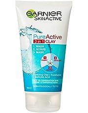 Garnier Pure Active 3 in 1 Wash Scrub & Mask 150ml