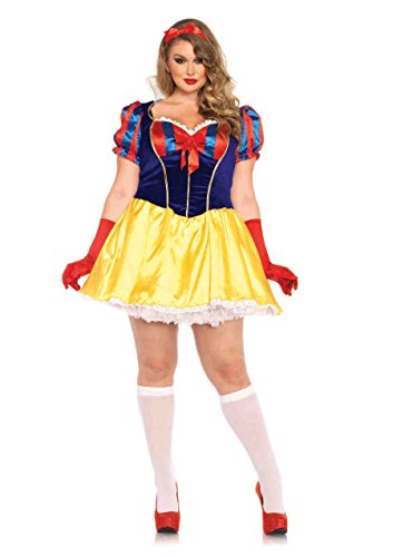 Leg Avenue Women's Plus-Size Snow White Poison Apple Princess Costume, Multi, ()