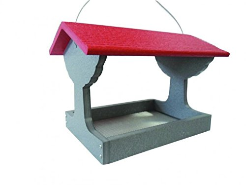 Backyard Nature GSFT200-R Green Solutions Recycled Fly Thru Feeder - Red