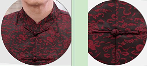 High-end Business Shirts Tang Suit Casual Shirts Chinese National Style Mulberry Silk by JIANYUAN-Tang Suit (Image #6)