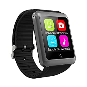 Smart Watch, YAMAY® Bluetooth Smartwatch Phone with Sim Card for iPhone Android iOS OLED Touch Screen Unlocked Activity Tracker Pedometer Sleep Call Text Messaging for Women Men Running Outdoor Grey