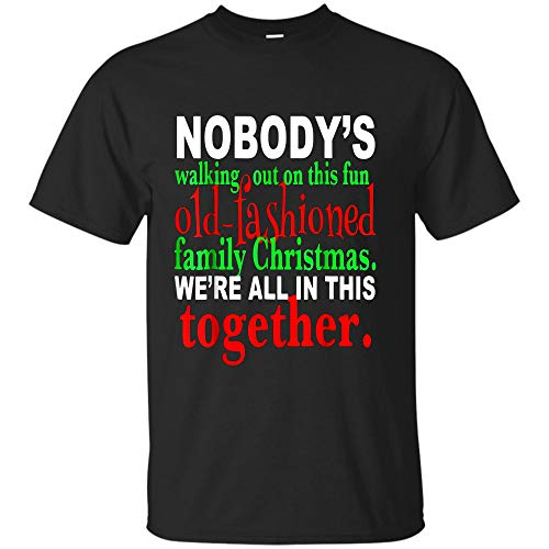 Christmas Vacation Movie Funny T Shirt Clark Griswald (Unisex T-Shirt;Black;L)]()