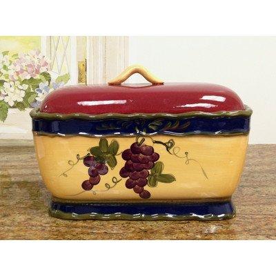 Colorful Grapes Bread Box - Ceramic Baskets Bread