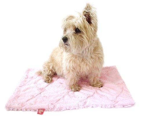 Minkie Binkie Square Blanket, Pale Pink Roses, 16.5x16.5