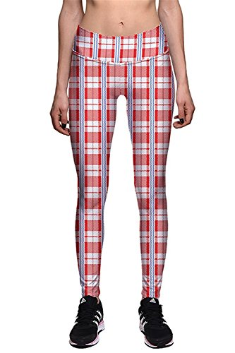 Davikey comfortable Women's Red Plaid Athletic Running Plus Size Leggings Tight XXXL Pattern - Macys Mn In