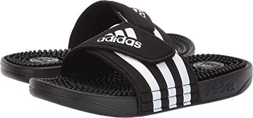 adidas Unisex-Kid's Adissage Slide, Black/White/Black, 13K M US Little Kid