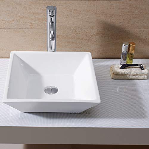 Decor Star CB-006 Bathroom Porcelain Ceramic Vessel Vanity Sink Art ()