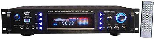 Pyle-Pro P1501ATU 1500W Pre-amplificador híbrido con AM/FM / USB
