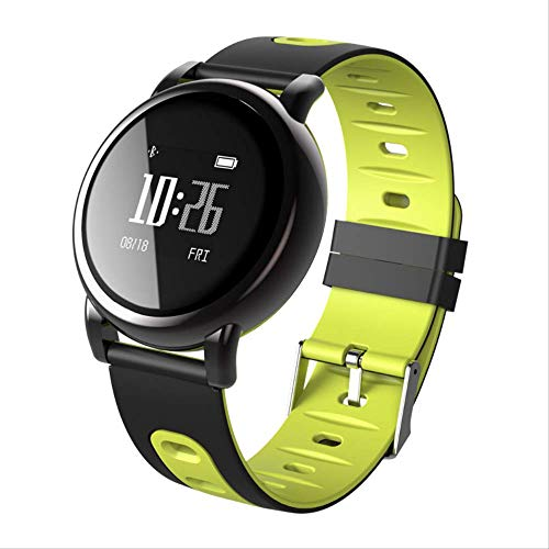 KKART Smart Watches Fitness Tracker Black Technology Smart Bracelet Bluetooth Wearable Sport Watch Silicone Strap Health Pedometer Anti-lost Yellow