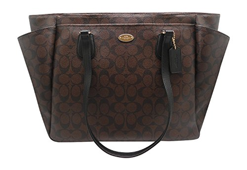 Couture Watch Brown Strap (Coach F35414 Baby Diaper BAG in Signature Canvas Brown)