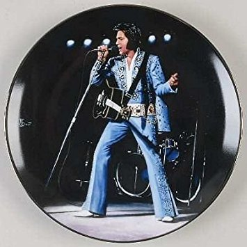 Elvis Presley Collector Plate: Madison Square Garden, 1972
