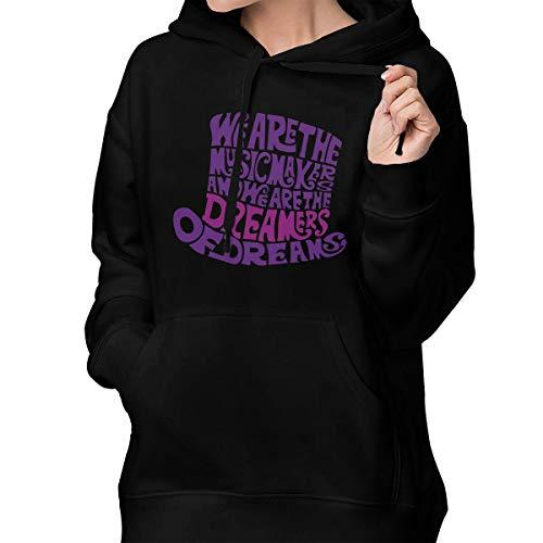 Willy Wonka Hat Dreams Womens Pullover Sweatshirt Hooded Sweatshirt Athletic Casual