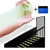 "StepTips Anti Slip Tape Stair Treads Clear & Glow in the Dark For Safety Non Slip Grip 15 Pack 4"" x 24"" Pre Cut Skid Strips Traction Non Abrasive PVC FREE for Bare Feet Kids, Elders & Dogs"