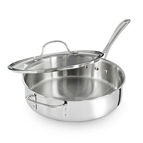 Calphalon Tri Ply Stainless Steel 5 Quart Saute Pan With
