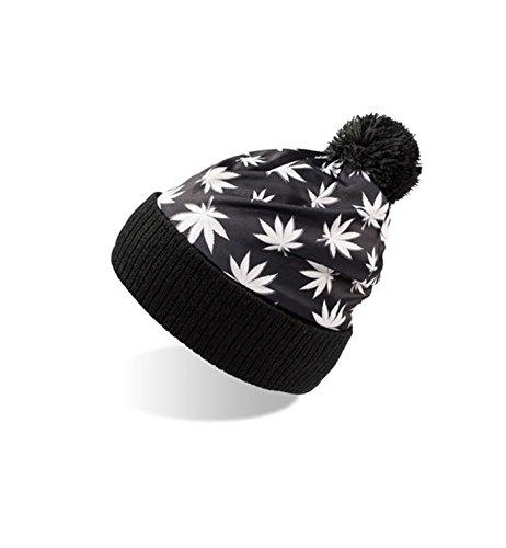y punto con diseño Camuflaje borla Black Paisley Mujer Flores y de Hombre Gorro Leaves 5qf8nxt4w