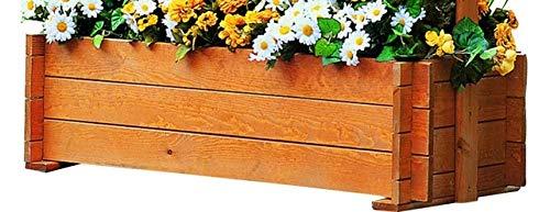 Festnight Garden Pergola Planter With Trellis For Climbing Flower Balcony Wooden Planter Box 162x56x204 Cm Fsc Wood Garden Outdoors Gardening