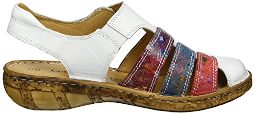 Weiß 720109 Femme Ouvert Sandales Weiß Bout Comfortabel xaqFPd