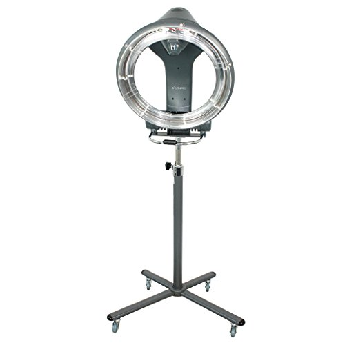 SalonPro Orbiting Halo Infrared Hair Color Processor Dryer Accelerator w/Rolling Base (Grey) ()