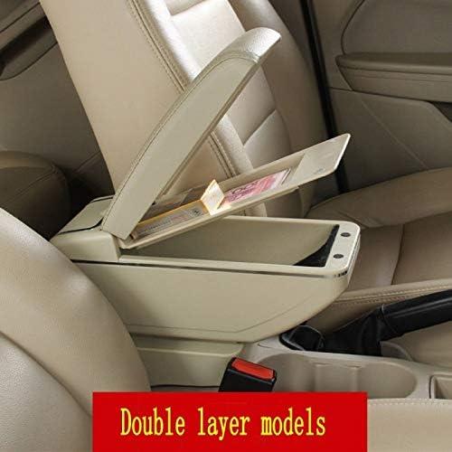 Yujzpl Auto Mittelkonsole Passend F/ür Citroen Berlingo Armlehnenbox General Motors Mittelkonsole Modifiziertes Zubeh/ör Doppelter G/ürtel USB Eine Schwarze Schwarze Linie