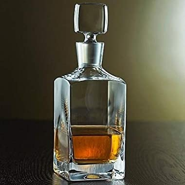 Denizli Spirits Old-Fashioned Whiskey Bottle Handmade Crystal Decanter 35 Oz - Lead Free