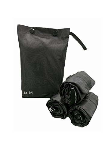 Envirosax Dusky Damask Set of 3 Reusable Shopping Bags with Pouch, Washable Grocery Eco-Friendly Folding Tote Bags