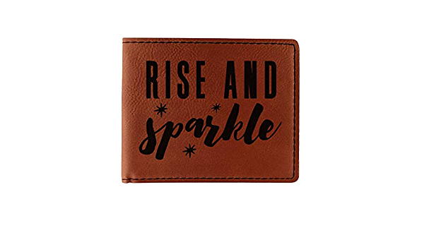 Personalized Glitter//Sparkle Quotes and Sayings Leatherette Can Sleeve Single Sided