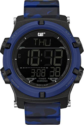 - CAT Crossfire Digital Military Blue Camo Men Watch, 48 mm case, ABS case, Military Blue Strap, Black/Silver dial (OB.147.26.146)