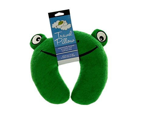 Bulk Buys Terry Frog Travel Pillow-8-Pack (Terry Frog)