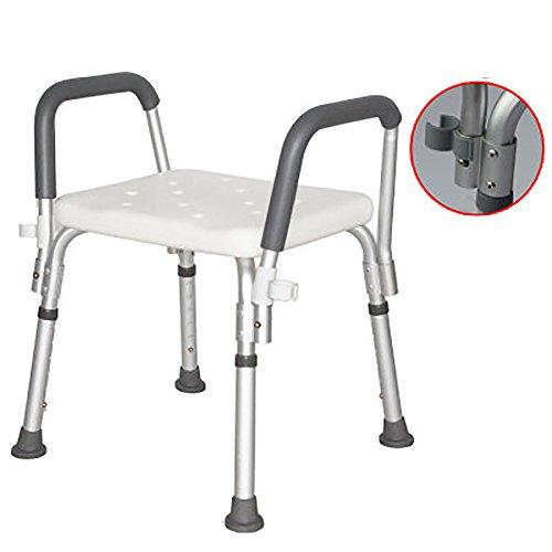 シュウクラブ@ 高齢者の入浴椅子アンチスキッドアームレスト妊婦バススツールシャワーチェア B07DW1CPSY