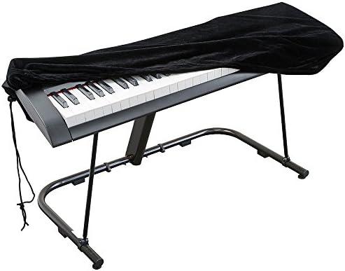 Cubierta para el teclado de piano, cubierta protectora tramo de terciopelo con cordón elástico ajustable para 88 teclas del teclado, piano digital, ...