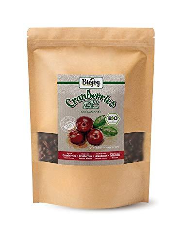 Biojoy BIO-Veenbessen, gedroogd, vrij van suiker, gezoet met appelsap (1 kg)