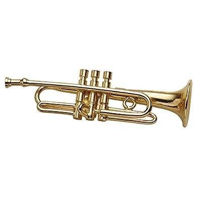 Nice Women's Miniature Musical Instrument Lapel Pins - Velvet Lined Case - Trumpet