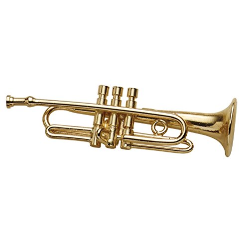 BROADWAY GIFTS Women's Miniature Musical Instrument Lapel Pins - Velvet Lined Case - Trumpet by BROADWAY GIFTS (Image #2)