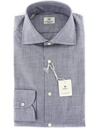 New Luigi Borrelli Gray Solid Extra Slim Shirt