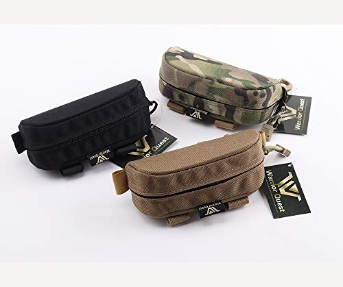 Warrior Quest Anti-Shock 1050D Nylon Molle Sunglasses Case - Protective Eyeglass Case Sunglasses Pouch Eyewear Case Safety Glasses Case (Semi-Hard ()