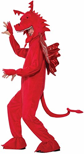 Forum 76622 Men's Red Dragon Costume, One Size, Multicolor, Pack of 1 -