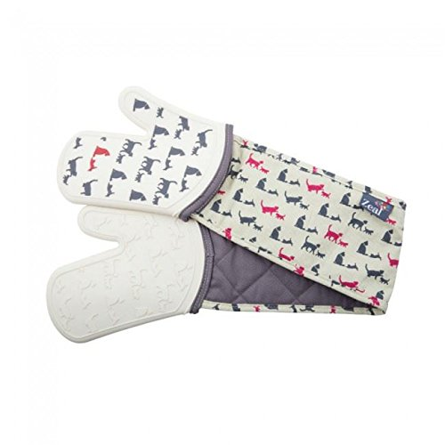 Zeal Steam Stop Silicone Waterproof Oven Mitts/Gloves, Cats Design by Zeal (Image #2)