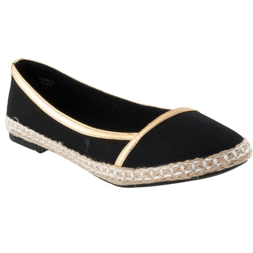 Pinky Casual Womens Black Pinky Womens Flora Microsuede Flats Beige rrB1X