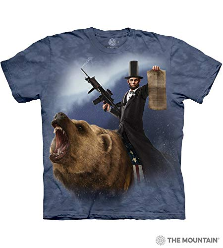The Mountain Lincoln The Emancipator Adult T-Shirt, Blue, Large