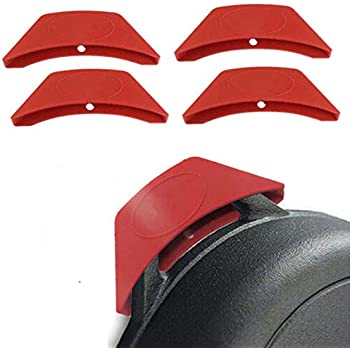 EORTA 4 Pieces Silicone Assist Handle Holder Scald-Proof Heat Insulated Pot Grip Cover Pot Holder for Pans, Frying Pans, Griddles, Metal Cookware, Red