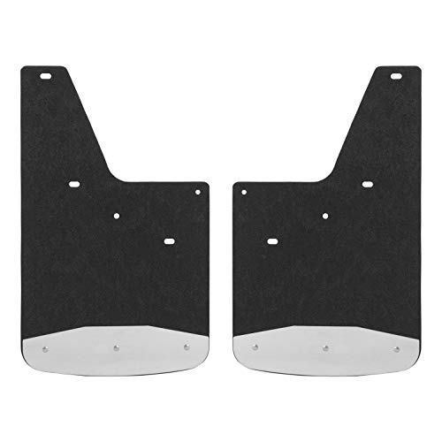 LUVERNE 250740 Front or Rear Textured Rubber Mud Guards Black 12-Inch x 20-Inch Select Chevrolet Silverado, GMC Sierra 1500, 2500, 3500 HD (Textured Front Flap)